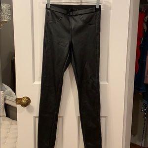 BCBG Maxazria faux black leather leggings